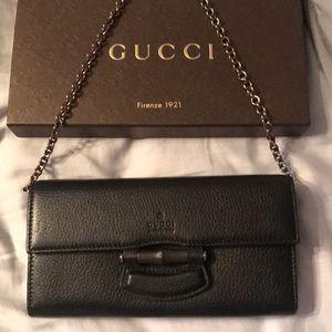 Gucci women's wallet black.
